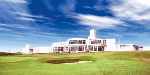 Royal Birkdale Golf Course Clubhouse and 18th Hole