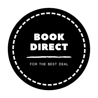 BOOK DIRECT FOR THE BEST DEAL BLACK AND WHITE